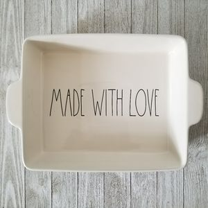 Rae Dunn MADE WITH LOVE Baking Pan Dish